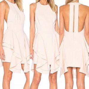 C/MEO Collective Pink Draped Sheath Dress XL